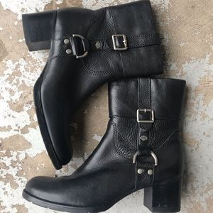 Harley-Davidson Women's Buckle Black Leather Boots